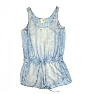 Anthro Cloth&Stone Chambray Romper Cami Style